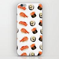 sushi iPhone & iPod Skins featuring Sushi by Jenny Viljaniemi