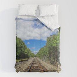 Beautiful Day Train Tracks Comforters
