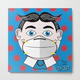 Tilly Mask   Pop Art Metal Print