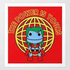 Captain Little Big Planet Art Print