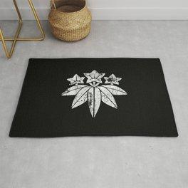 Minamoto Clan · White Mon · Distressed Rug