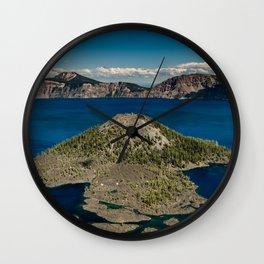 Crater Lake Love Wall Clock