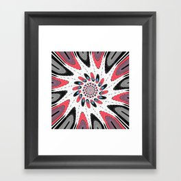 High contrast twirl Framed Art Print