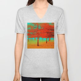 Vintage Trees at the Beaches in Toronto Unisex V-Neck