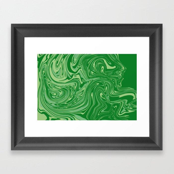 Green pastel abstract marble Gerahmter Kunstdruck