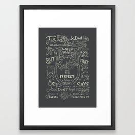 James 1:23-25 Framed Art Print