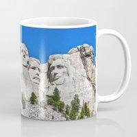 rushmore Mugs featuring Mount Rushmore by astultz23