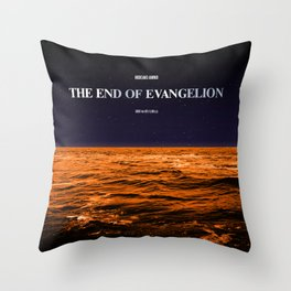 Movie Poster: The End of Evangelion Throw Pillow