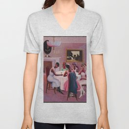 """1926 African American Masterpiece """"Cocktails"""" by Archibald Motley Unisex V-Neck"""