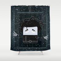 edward scissorhands Shower Curtains featuring Edward Scissorhands by Francesco Dibattista