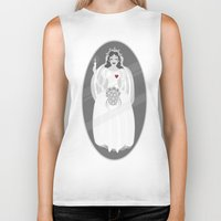 haunted mansion Biker Tanks featuring The Mansion Bride by Designed4dis
