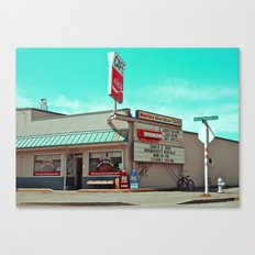 Corner cafe Canvas Print