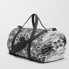 Blac White Mandala Abstract Duffle Bag