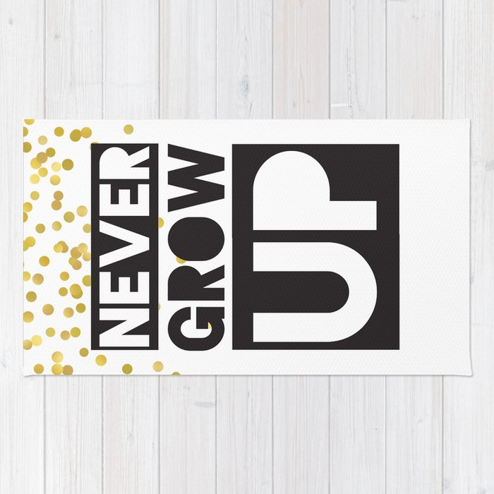 Never Grow Up Peter Pan Rug By Onyourwallprints Society6