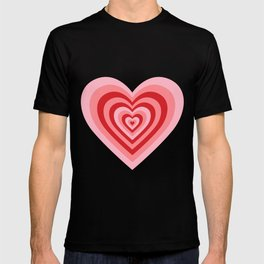 70s psychedelic pink heart T-shirt