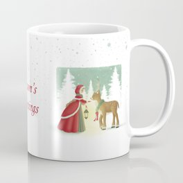 The Maiden and the Mysterious Reindeer Coffee Mug