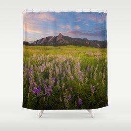 Boulder In Bloom Shower Curtain