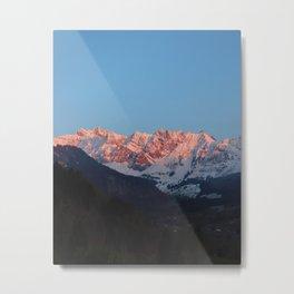 Swiss Sunsets Metal Print