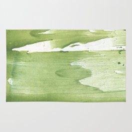 Green khaki clouded wash drawing texture Rug