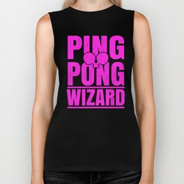 Ping Pong Gift for Office Table Tennis Champions and Bat and Ball Game Wizards Biker Tank