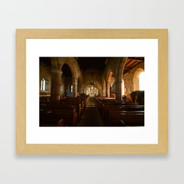 Holy Island Priory Framed Art Print
