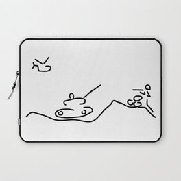 war with helicopter tank and gun shooter Laptop Sleeve