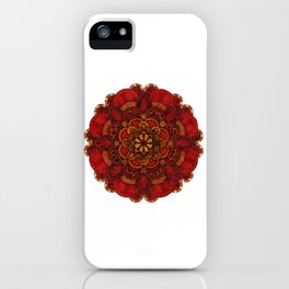 Chrysanthemum in lace iPhone Case