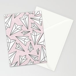 Paper Airplanes Blush Stationery Cards
