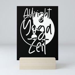 Allright Yoga Zeit - Yin and Yang Mini Art Print