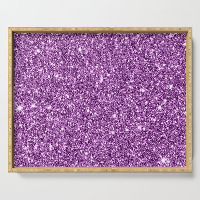 Sparkling glitter print D Serving Tray