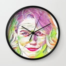 Sophia Bush (Creative Illustration Art) Wall Clock