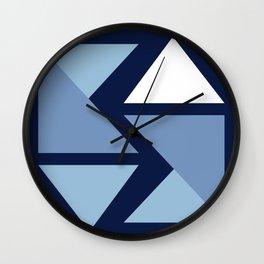 Origami Indigo Triangles Wall Clock