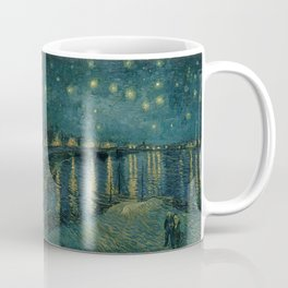 The starry night over the Rhône, 1888, Vincent van Gogh, Musée d'Orsay, Paris. Coffee Mug