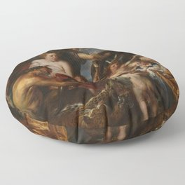 Peter Paul Rubens - Minerva protects Pax from Mars Floor Pillow