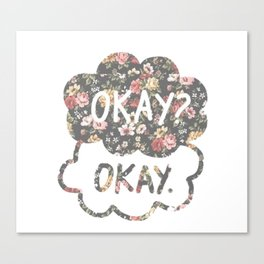 OKAY?OKAY THE FAULT IN OUR STARS TFIOS HAZEL AUGUSTUS CLOUDS #2 Canvas Print