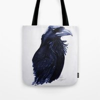 raven Tote Bags featuring .Raven by Isaiah K. Stephens