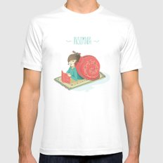 Cozy snail White Mens Fitted Tee MEDIUM
