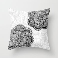 Mandalas in black Throw Pillow
