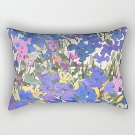Blue Periwinkle Wildflowers Rectangular Pillow