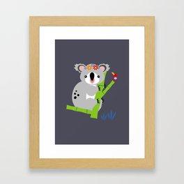 Lady Koala Framed Art Print