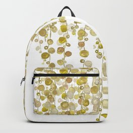 golden string of pearls watercolor 2 Backpack