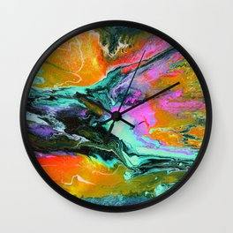 Abstract ORANGE Wall Clock