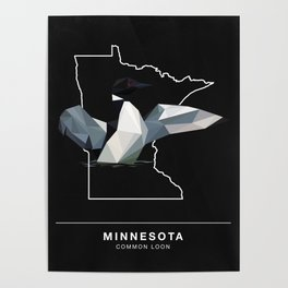 Minnesota - Common Loon (Black) Poster