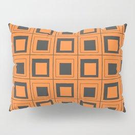 Orange Squares Pillow Sham