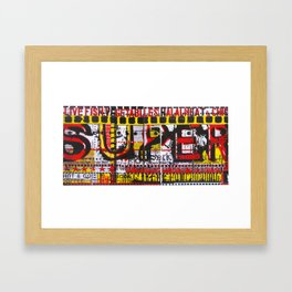Combination Platter #30 Framed Art Print
