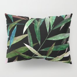 Bamboo Leaves at Night Pillow Sham
