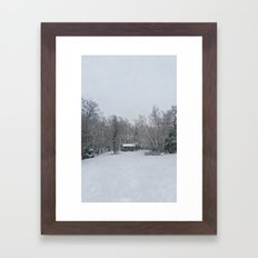 Cantonia in White Framed Art Print