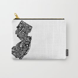 Typographic New Jersey Carry-All Pouch