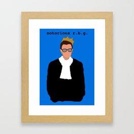 Notorious R.B.G. Framed Art Print