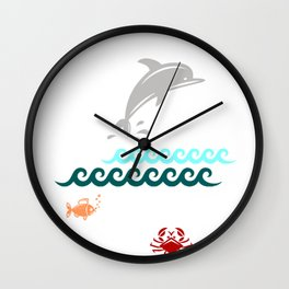 Flying Dolphin Wall Clock